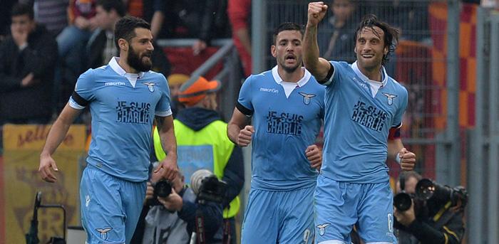 FOOTBALL : As Rome vs Lazio Rome - serie A - 11/01/2015